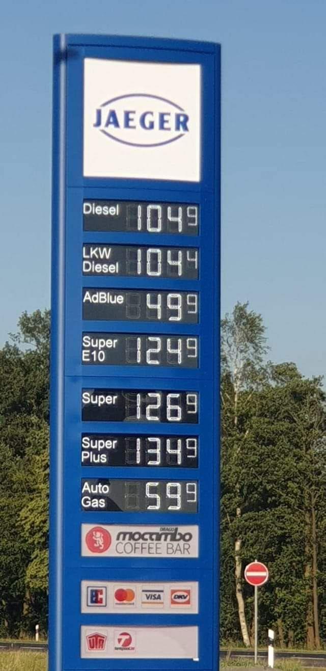 (LOKAL) Diesel 1,019€ Super 1,209€ Cloppenburg / Lastrup