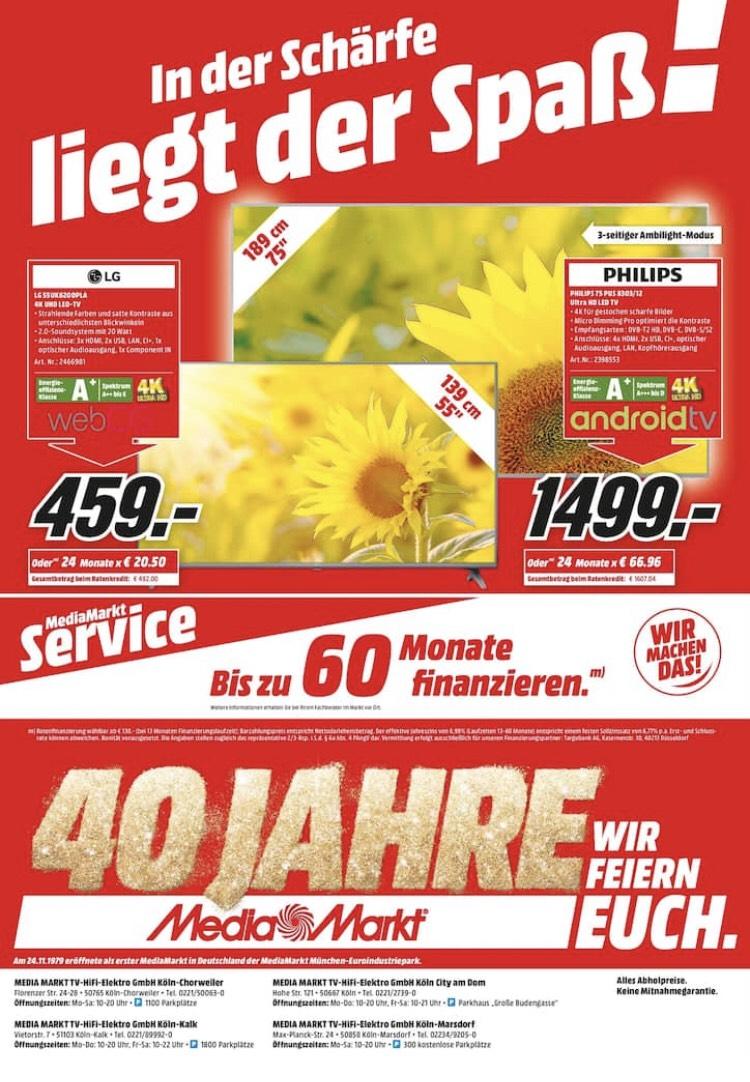 Philips 75 PUS 8303 LED TV für 1499,-€ in allen Kölner Media Märkten [Lokal]
