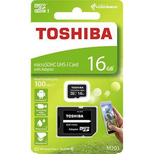 Saturn Micro Sd Karte.Toshiba M203 Microsdhc Karte 16gb Class 10 Uhs I Inkl Sd Adapter