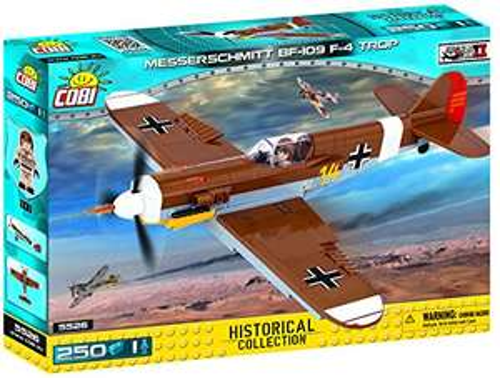 COBI 5526 Spielzeug Konstruktionsspielzeug-Flugzeug, Braun, Grau, Weiß