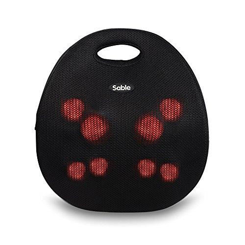 Sable Rückenmassagerät (8 rotierende Massageköpfe, Wärmefunktion, abnehmbares Futter, Netzteil und 12V-Adapter, Tragegriff)