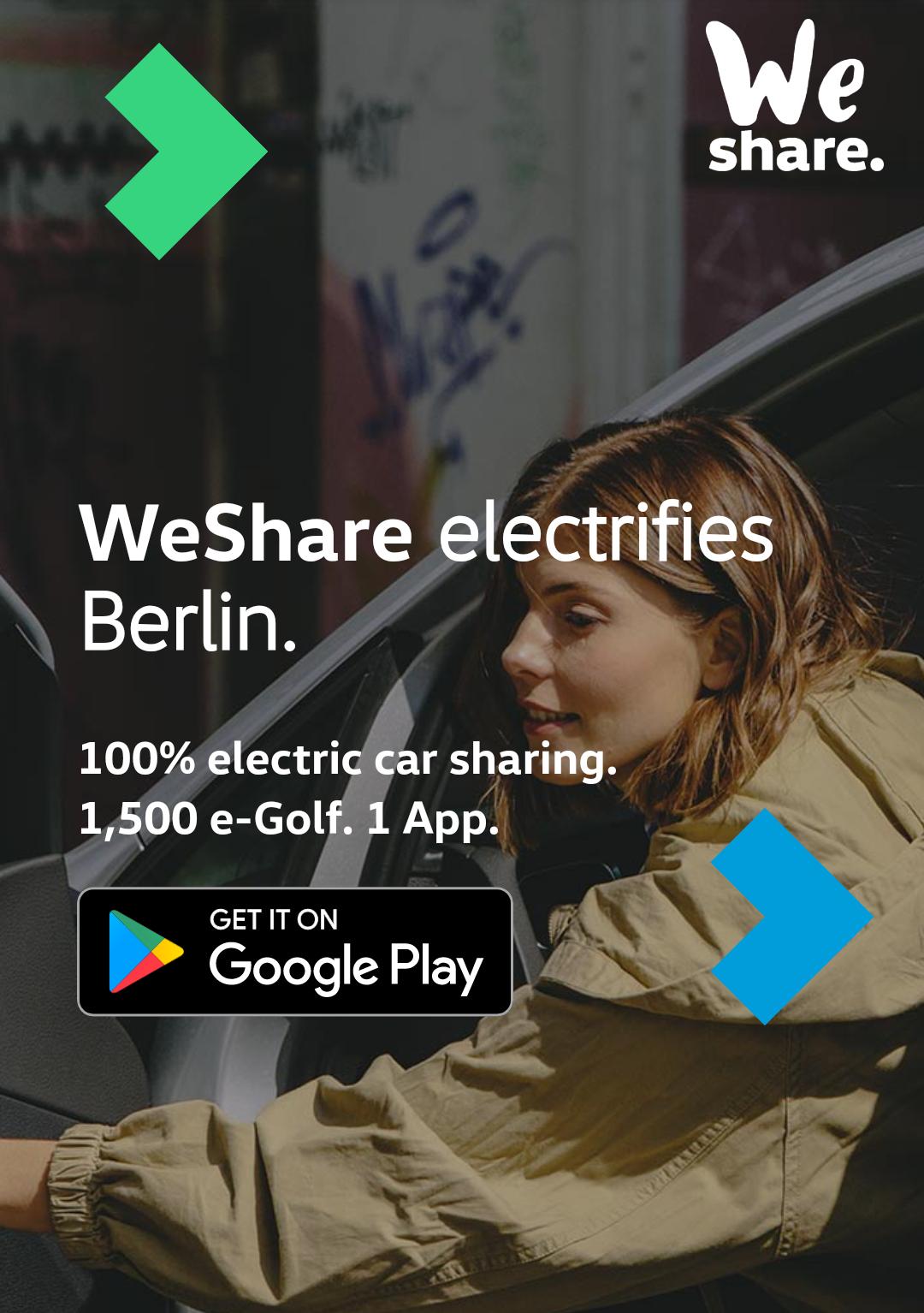 [Lokal Berlin] WeShare Carsharing in Berlin gestartet