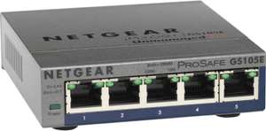 Tagesangebote von NBB - Netgear GS105E-200 5-Port Gigabit Switch | Netgear ProSafe GS724T-400 Gigabit Ethernet 24-Port Switch: 89€