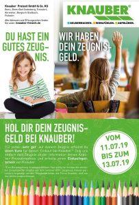 Knauber Bonn / Köln / Troisdorf / Bergisch Gladbach Zeugnisgeld