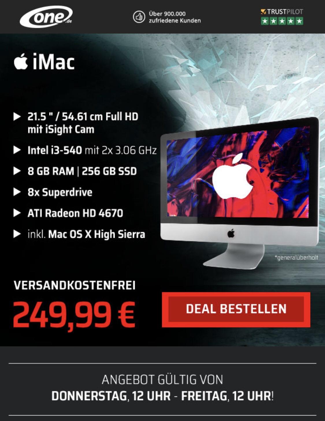 """Apple iMac 21,5"""" Mid 2010 (Generalüberholt)"""