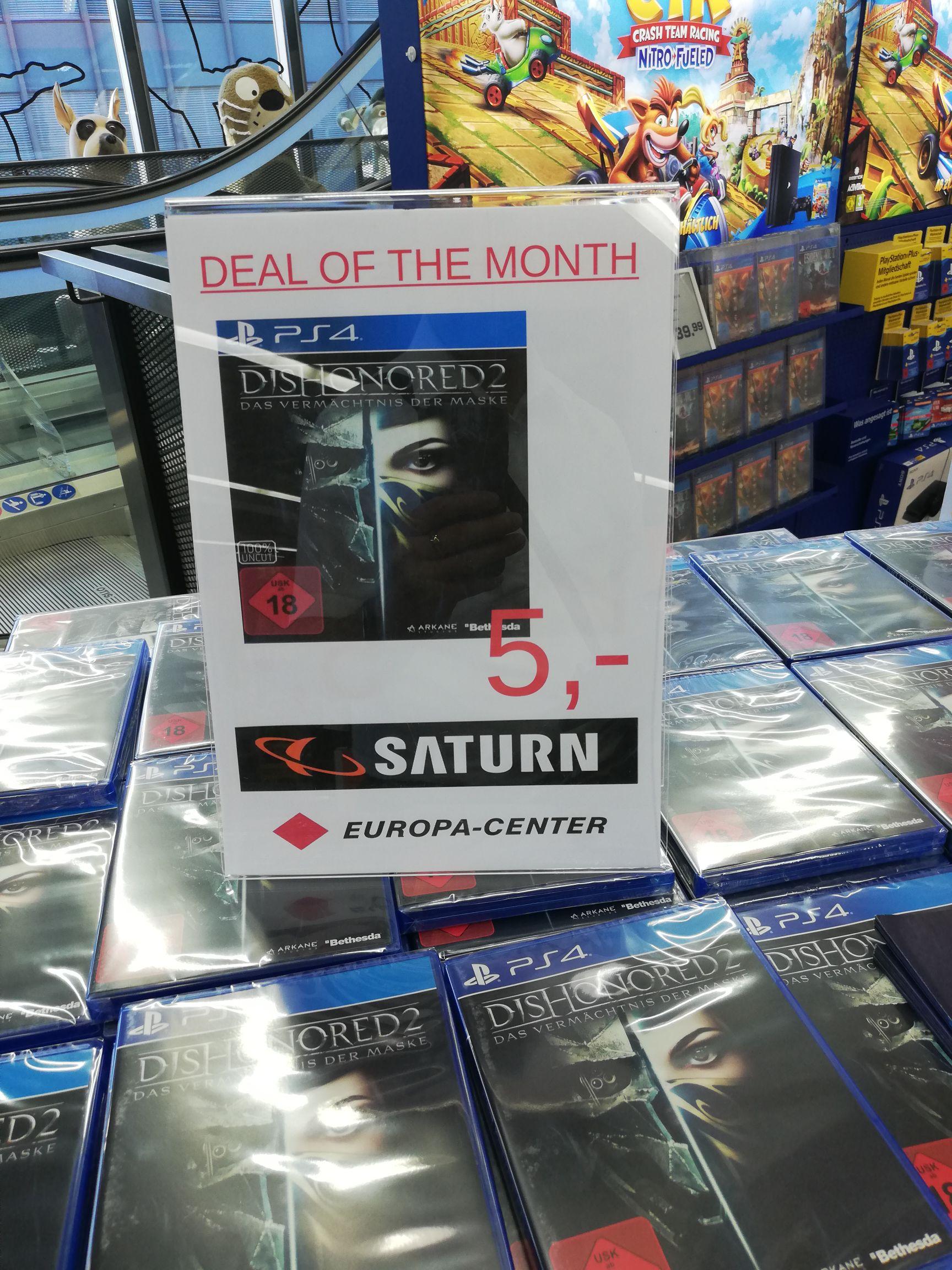Lokal Saturn Berlin Europa Center PS4 Dishonored 2