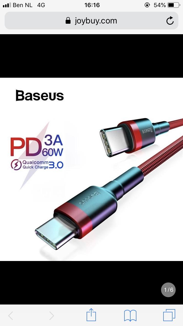 Baseus 3A Type C to Type C USB-C Kabel für MacBook 2M