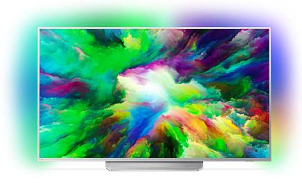 "Philips 49PUS7803 49"" 4K UHD TV (IPS, Edge LED, 60Hz, 10bit, HDR, WLAN, dreiseitiges Ambilight)"