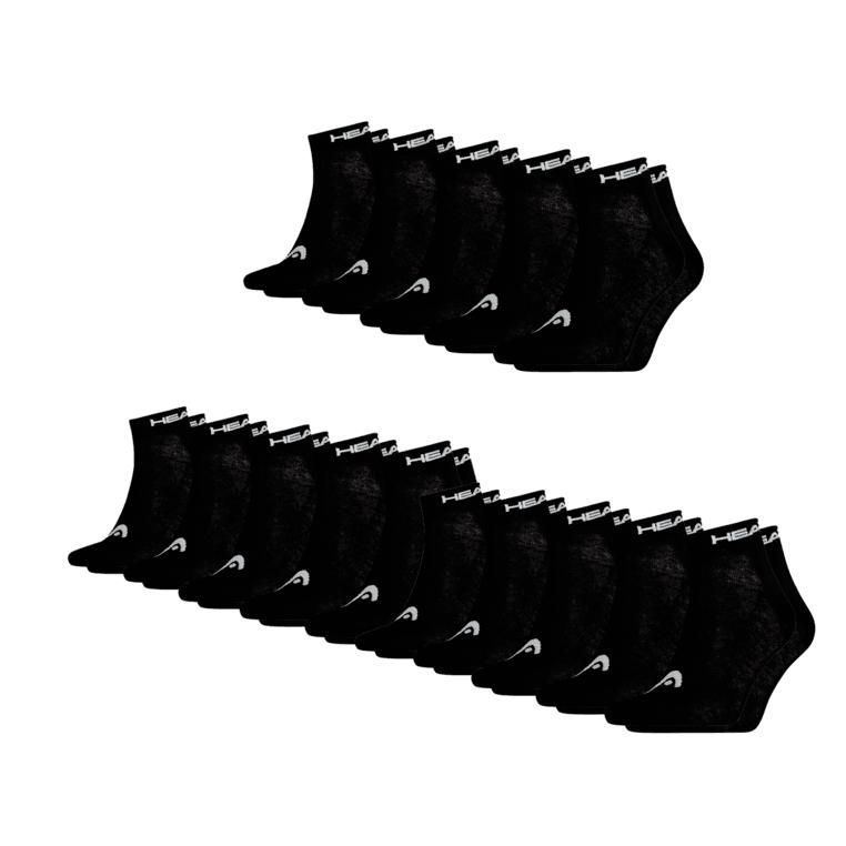 12 Paar Quarter Sportsocken von Head in verschiedenen Farbkombis, versandkostenfrei bei [geomix]