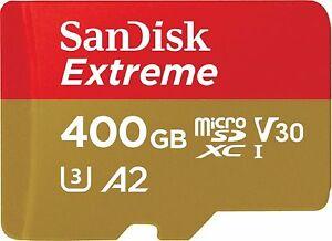 [ebay] SanDisk Extreme 400 GB microSDXC 160MB/s UHS-I A2 U3 C10 für 67,19€