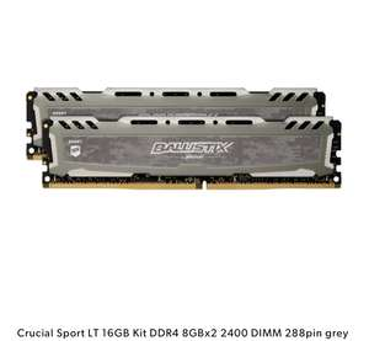 Crucial Sport LT 16GB Kit DDR4 8GBx2 2400 DIMM 288pin grey