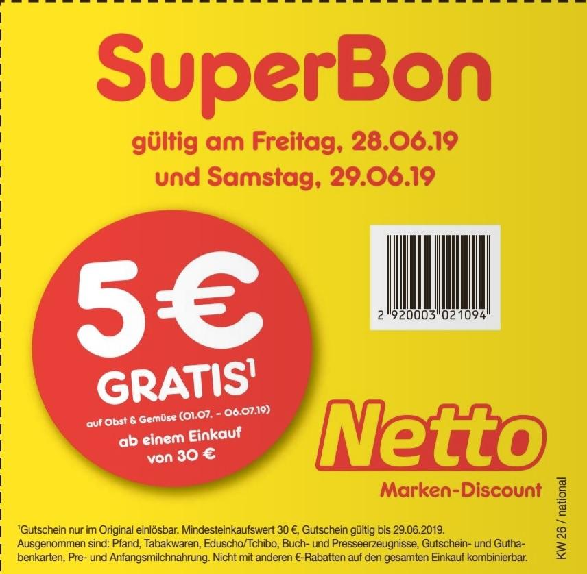 5€ netto MD Coupon für Obst&Gemüse @ Bild Zeitung Ausgabe vom 28.06. (2x mind. 30€ Umsatz notwendig)