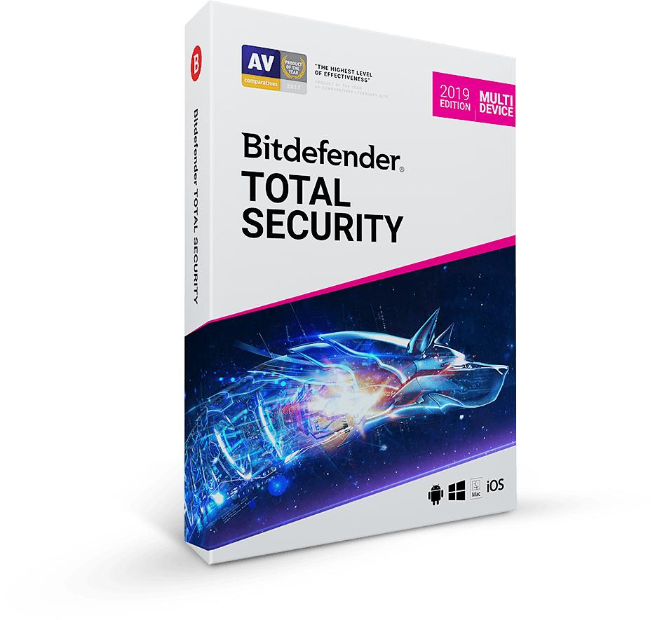 Bitdefender Total Security 2019 für 5 Geräte - 6 Monate komplett kostenlos (VPN)