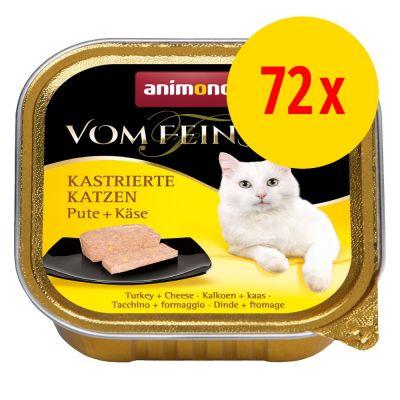 72x 100g Animonda vom Feinsten für kastrierte Katzen Vorratspack