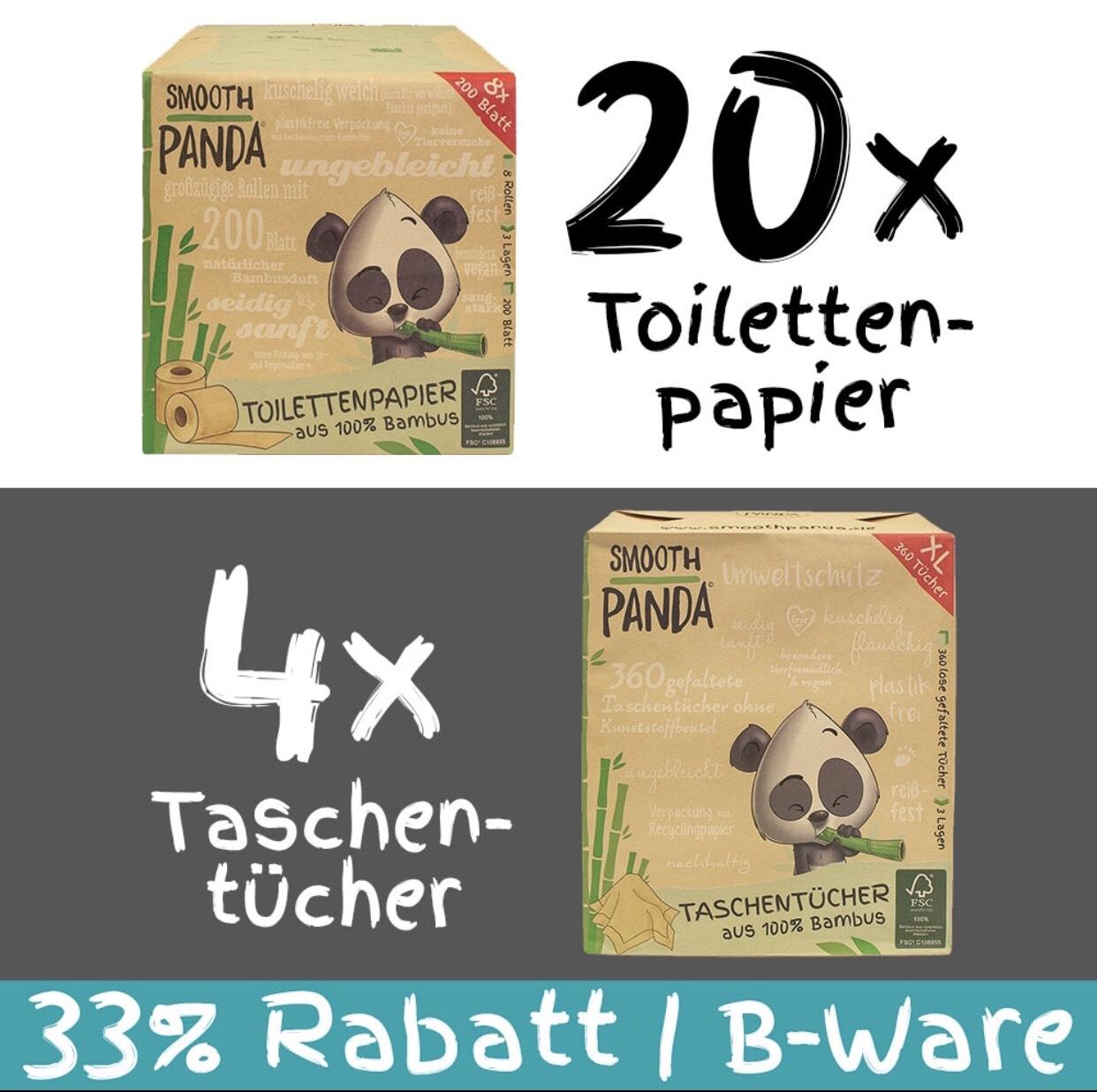 Smooth Panda Klopapier und Taschentücher aus Bambus