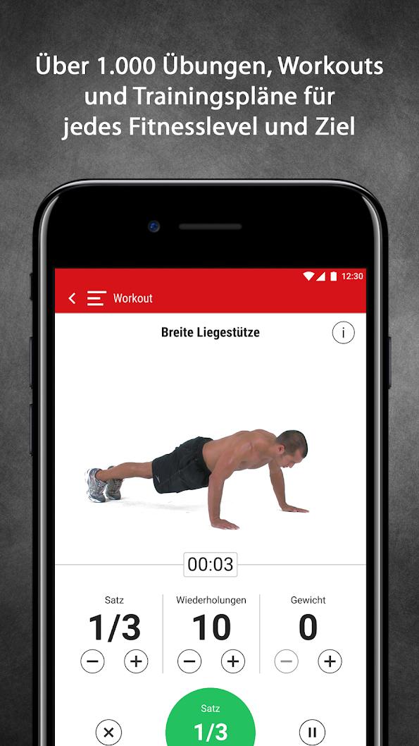 Men's Health Personal Trainer App - 1000 Übungen und Workouts und Expert-Features für 3 Monate gratis