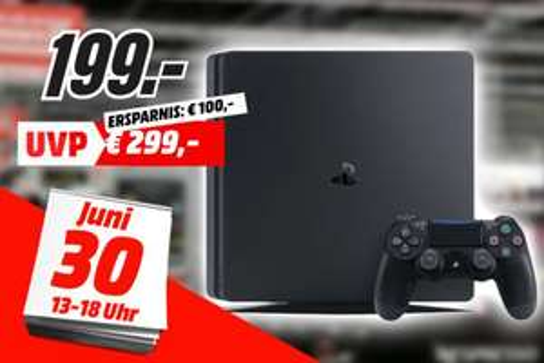 [Lokal: Media Markt Bremen-Waterfront am 30.06. von  13-18 Uhr] Sony PlayStation 4 (PS4) Slim 500GB schwarz