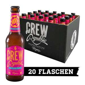 Bier von Crew Republic (20x0,33l): z.B. In Your Face IPA 27,90€ / Drunken Sailor IPA 27,60€ / Foundation 11 PA 27,60€ und weitere [Amazon]