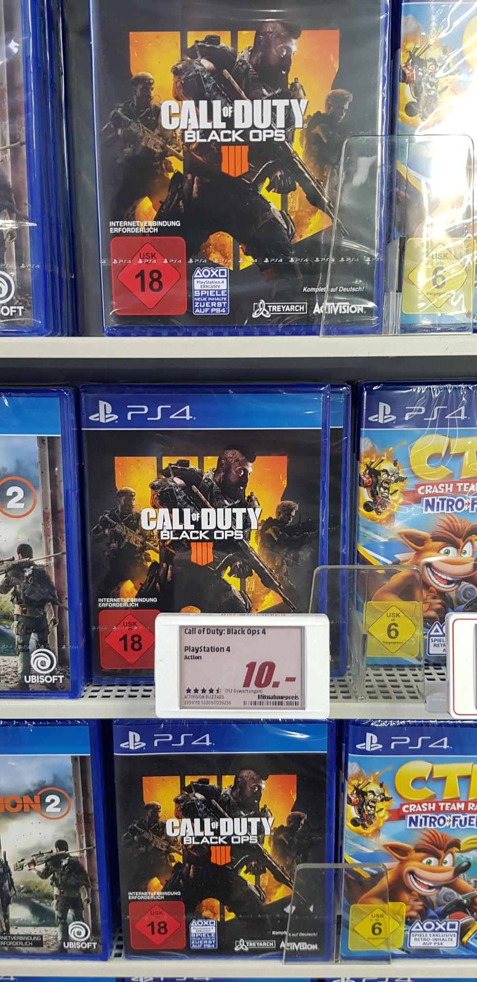 [Lokal Media Markt Oldenburg] PS4 & PC Call of Duty Black Ops 4 / PS4 Slim für 199€ inkl Days Gone. / weitere PS4 Titel für 9,99€