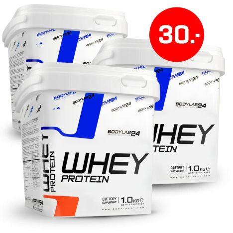 Bodylab24 Whey Protein 3 x 1kg zu je 10€ + 4,90€ VSK