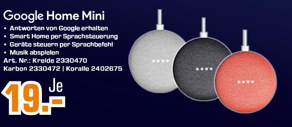 Google Home Mini | Razer Electra V2 USB für 29€ | Google Chromecast 3 für 29€ | uvm. [Abholung]
