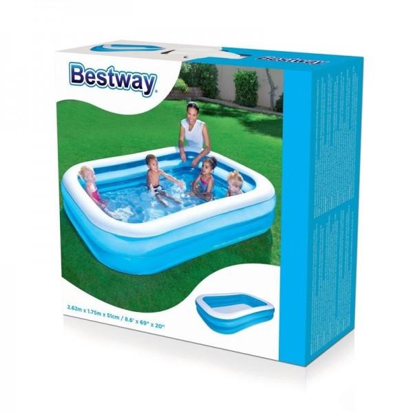 Bestway 54006 Rechteckiger Familien-Pool, Sea Scene, 262 x 175 x 51 cm+ Kosmos Spiel 711122 Was ist Was Weltraum