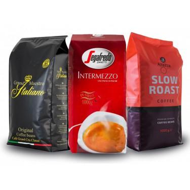 3k Marken-Bohnen - 1 kg Altezza Slow Roast Coffee | 1 kg Segafredo Intermezzo | 1 kg Grand Maestro Italiano original