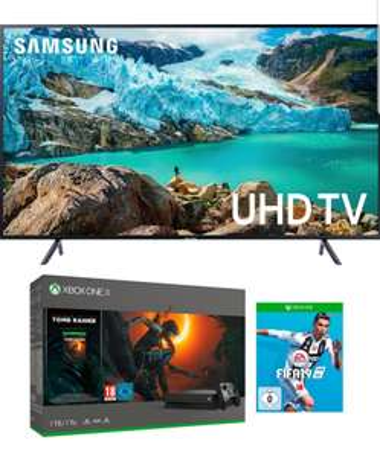 Samsung UE55RU7179 LED 4k TV + Xbox One X + Tomb Raider + FIFA 19 @ Otto