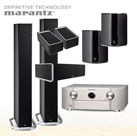 Definitive Technology 5.1.2 ATMOS Set+ Marantz 6013 9.2 AVR