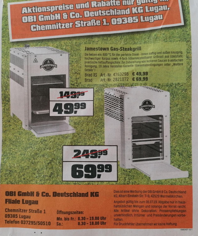 Lokal - Jamestown Gas-Steakgrill Brad und Brad XS - Obi Lugau Räumungsverkauf