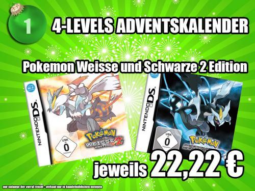 Pokemon Weisse oder Schwarze Edition 2 für 22,22 (Lokal)