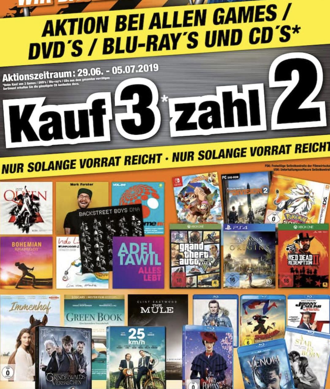 [Lokal: Expert Freital] Kauf 3 für 2: vorrätige Spiele (Switch, PS4, Xbox One) zB Super Mario Maker 2 + Zelda Breath of wild + Bros U Deluxe