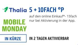 [Payback] 15fach Punkte bei Thalia am Mobile Monday (05.08.)