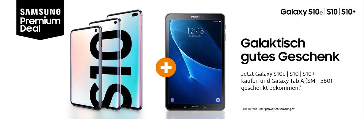 [SATURN AT] Samsung S10e|S10|S10+ kaufen und Galaxy Tab A (2016) geschenkt bekommen