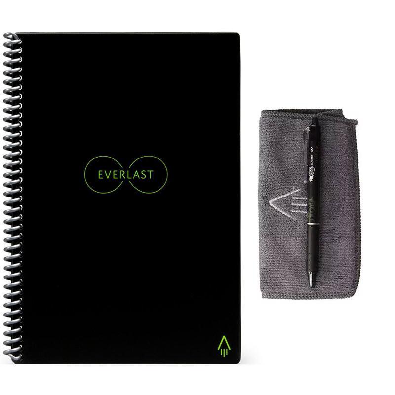 Rocketbook Everlast Smart Wiederverwendbares Notizbuch A4 und A5 - Schwarz