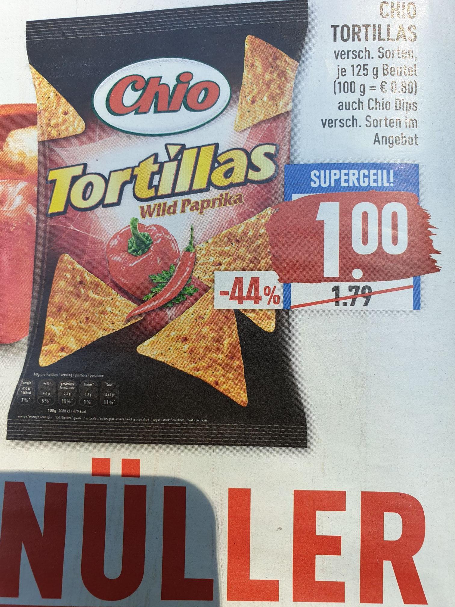 Marktkauf (evtl. lokal) Chio Tortillas + Chio Dips verschiedene Sorten 1,00€