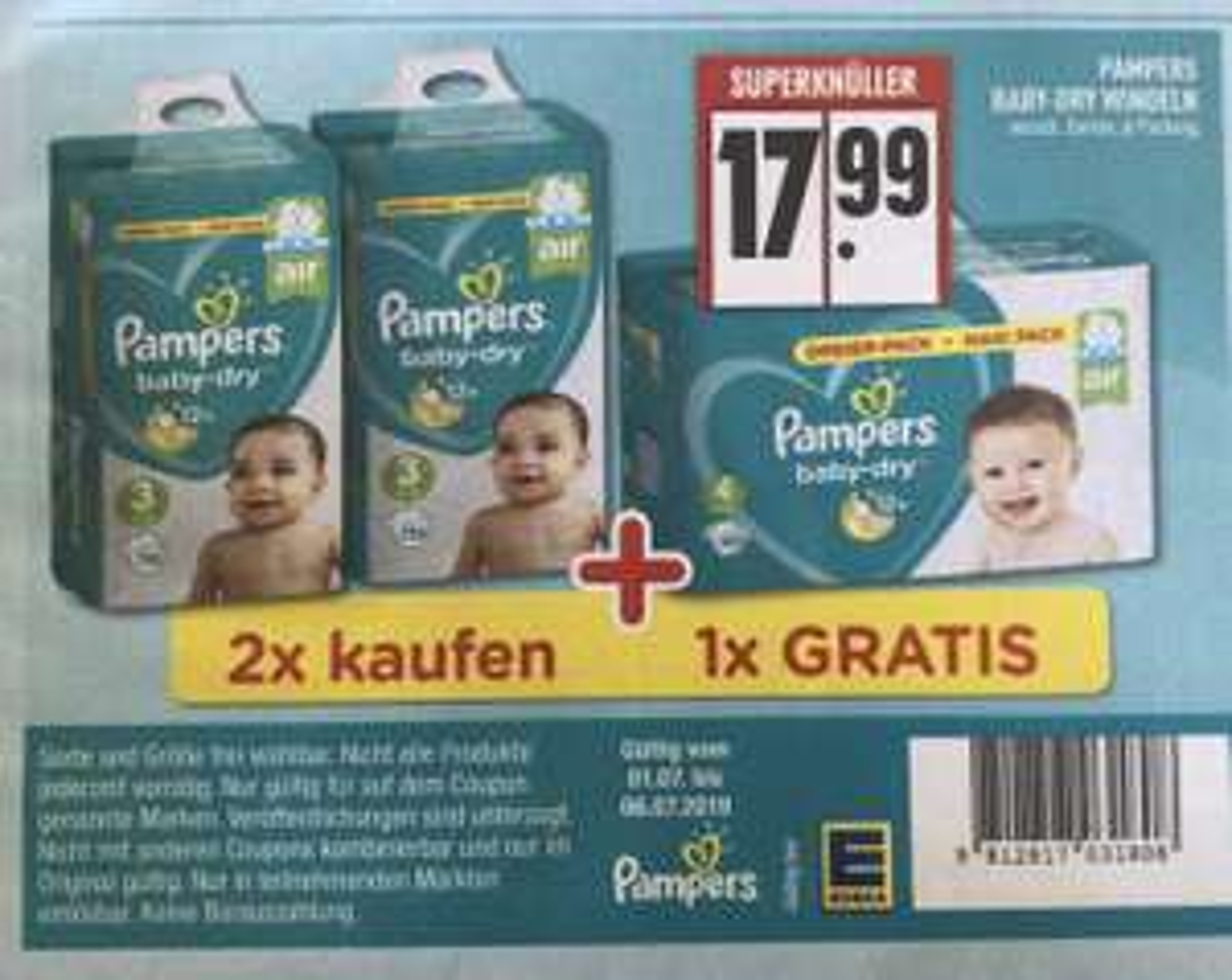 Pampers Baby-Dry verschiedene Größen