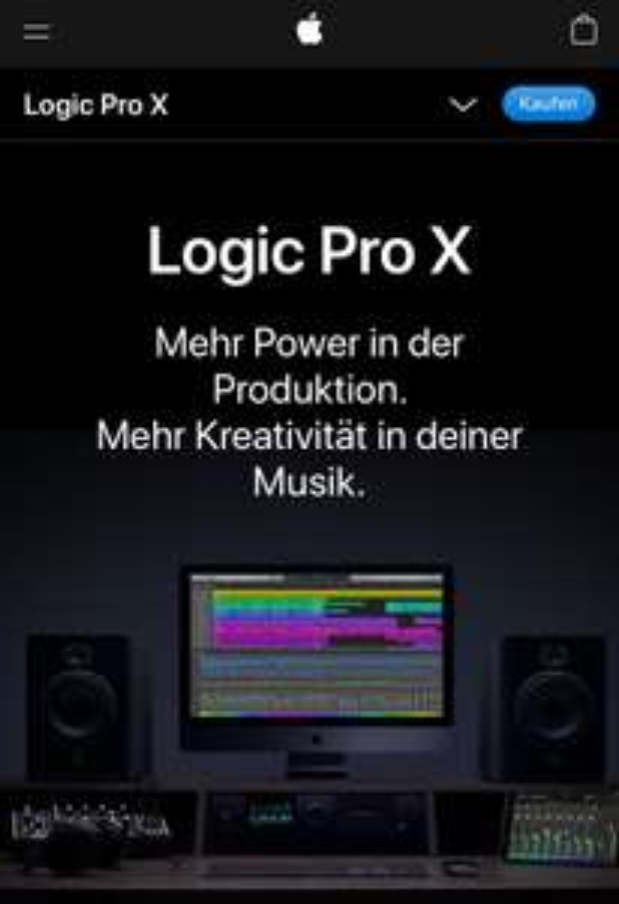 Apple Logic Pro X durch iTunes / AppStore Deal bei Lidl