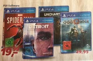 PS4 Spiele REAL Bundesweit 01.07 - 06.07 (z.B Spider-Man, Detroit Become Human, Uncharted The Lost Legacy für je 19,99€)