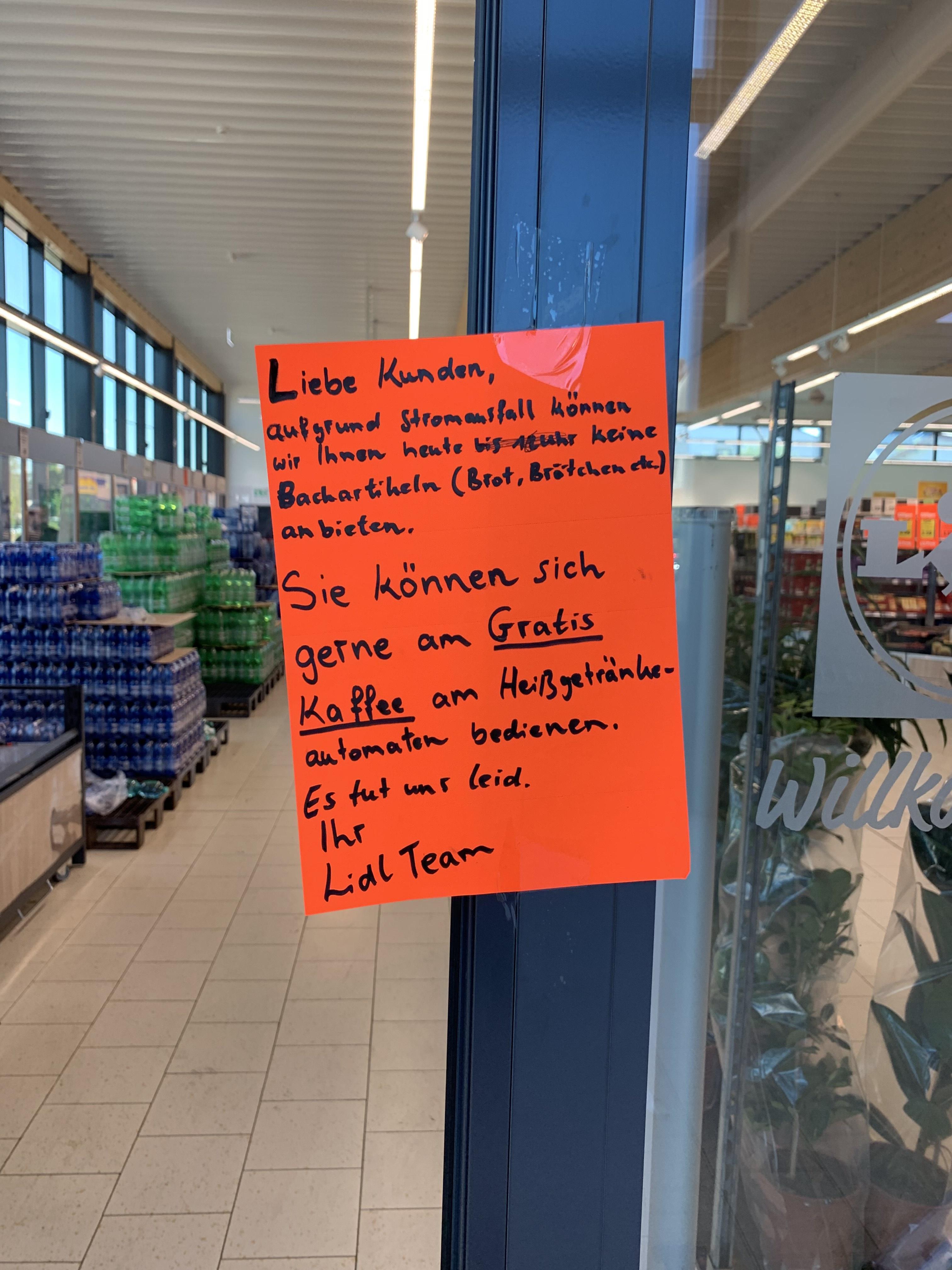 Lidl Heißgetränk umsonst, nur heute bis 21 Uhr [lokal/Pfungstadt]