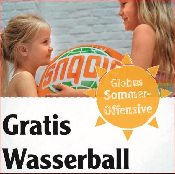Kostenloser Wasserball [Globus SB-Warenhaus]