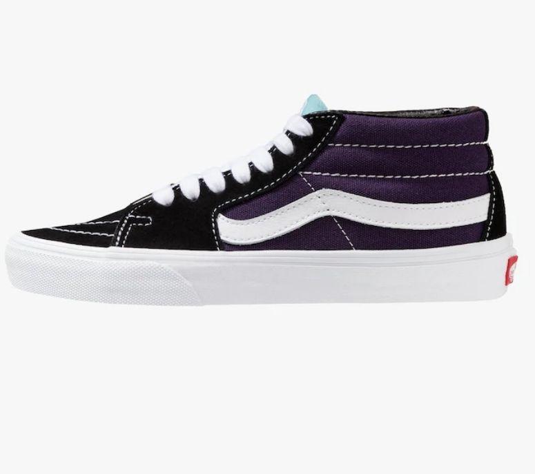 Zalando:Vans-SK8 MID - Sneaker high - black/mysterioso  Größe 36-41