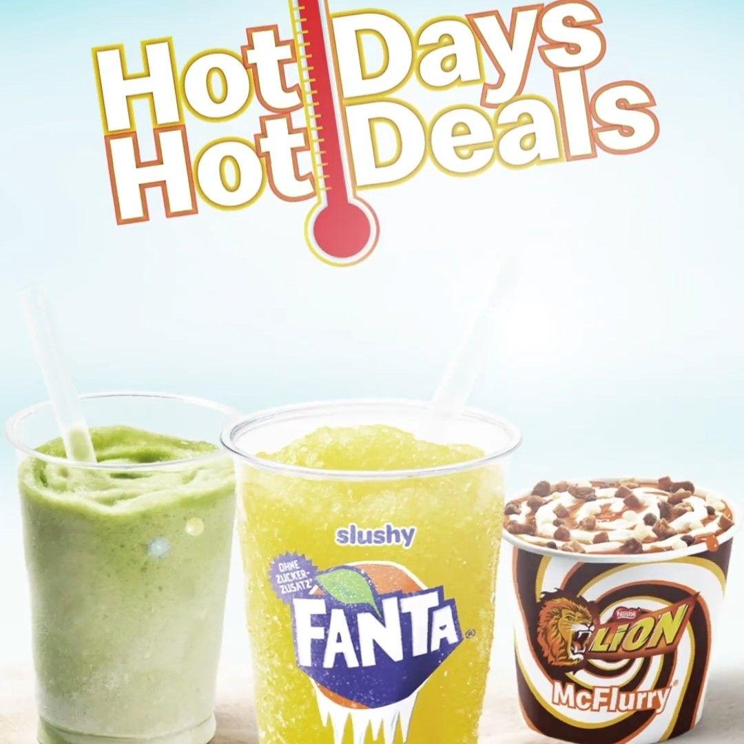 McDonalds Hot Days: McFlurry inkl. 2 Toppings für 1,50 + Smoothie + Slushy + Frappé