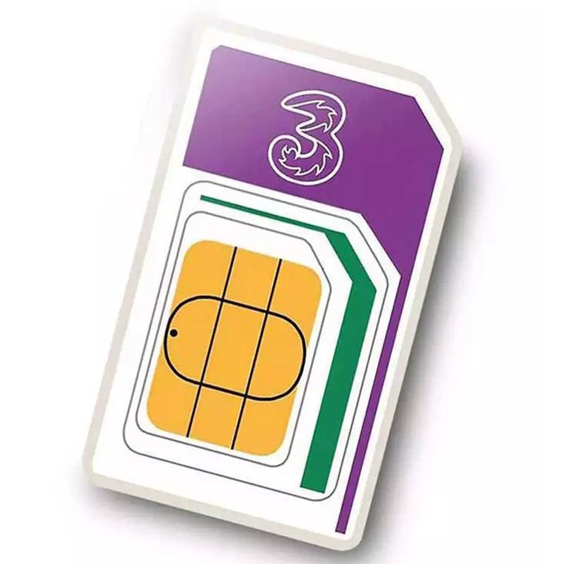 3 PAYG Prepaid Karte mit 12GB LTE Flat für 30,80€