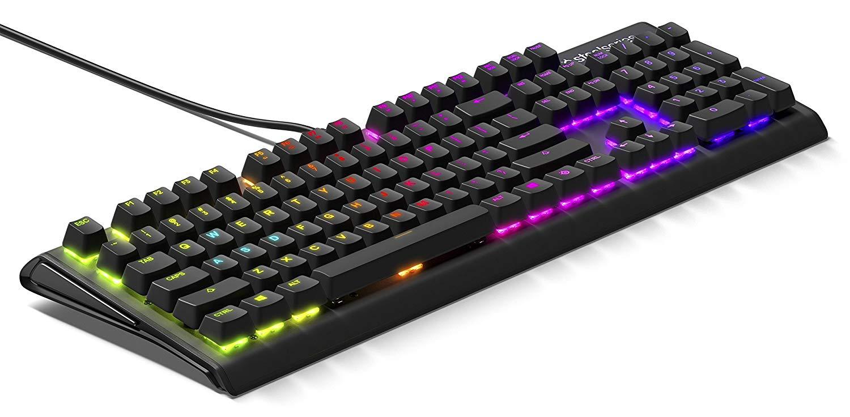 SteelSeries 64682 Apex M750 mechanische Gaming Tastatur, RGB-Beleuchtung pro Taste  - Deutsches QWERTZ-Layout