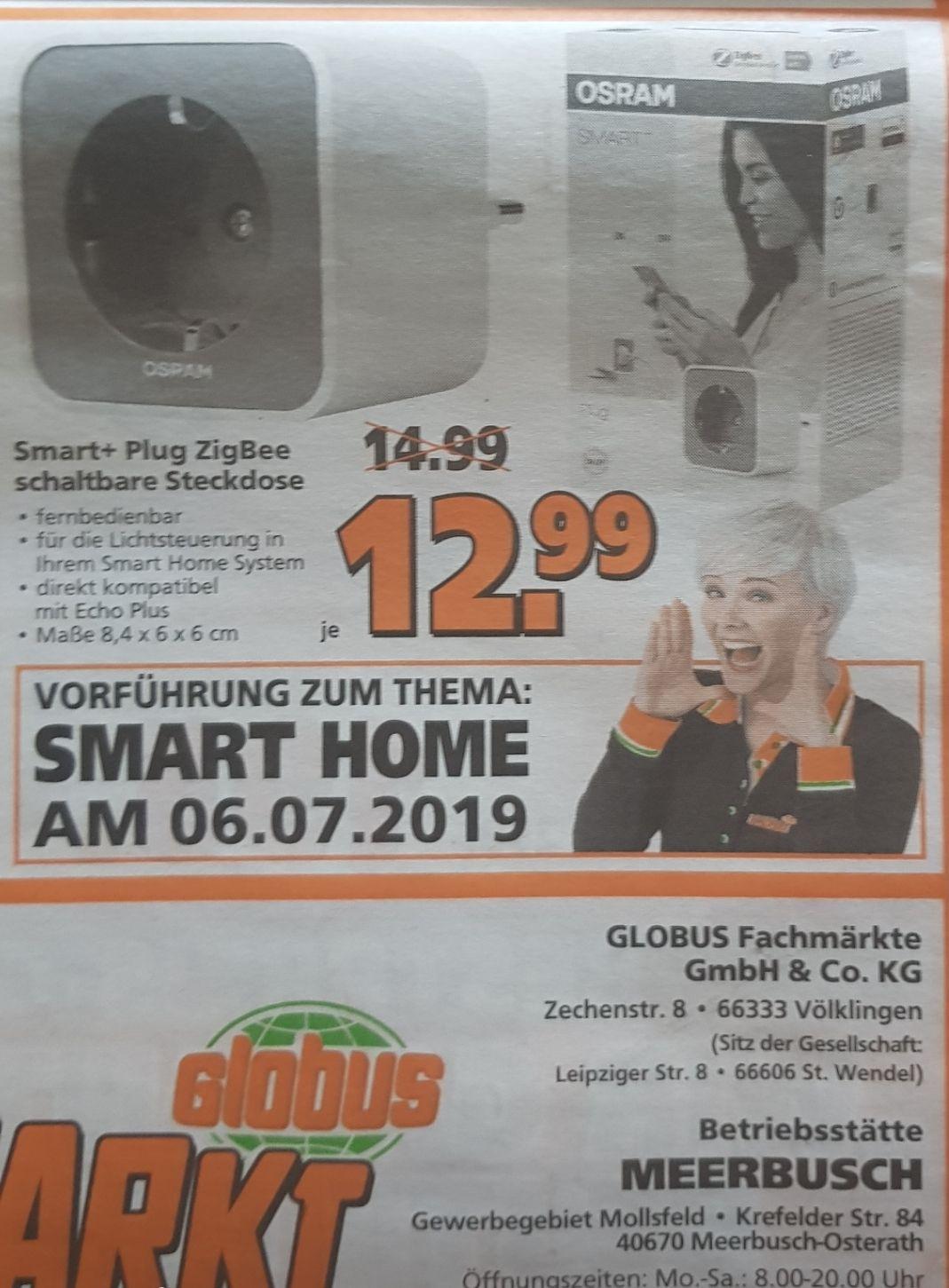 Osram Smart+ Plug ZigBee schaltbare Steckdose (offline bei Globus für 12,99/ online bei hitseller.de für 10 Euro/ Stück + 4,90 Versand)