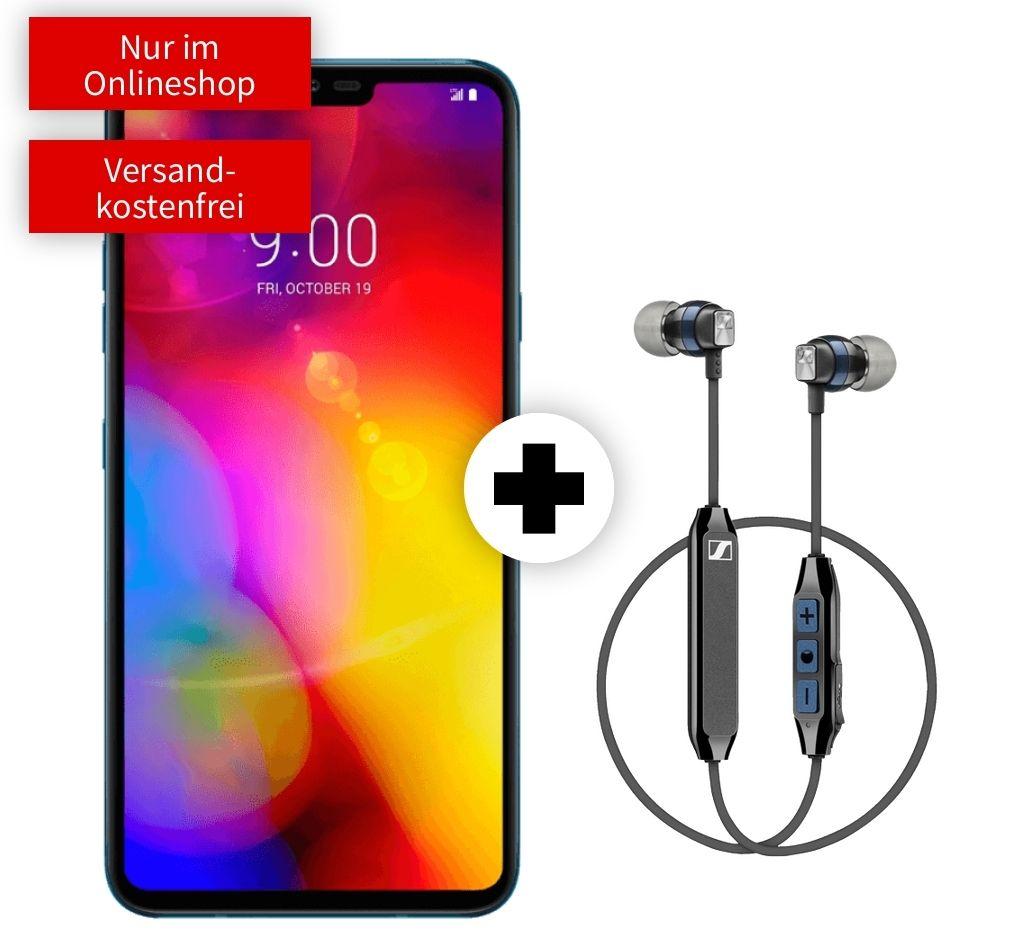 Sennheiser CX6 im Debitel Vodafone (10GB LTE) oder Telekom (8GB LTE, Allnet/SMS) für 49€ einmalig mit LG V40 Thinq 21,99€ mtl.
