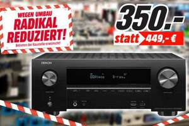 [Lokal: Media Markt Leipzig Höfe am Brühl] Denon AVR-X2500H 7.2 Kanal 4K-AV-Receiver   Sonos Beam Soundbar weiß für 350€