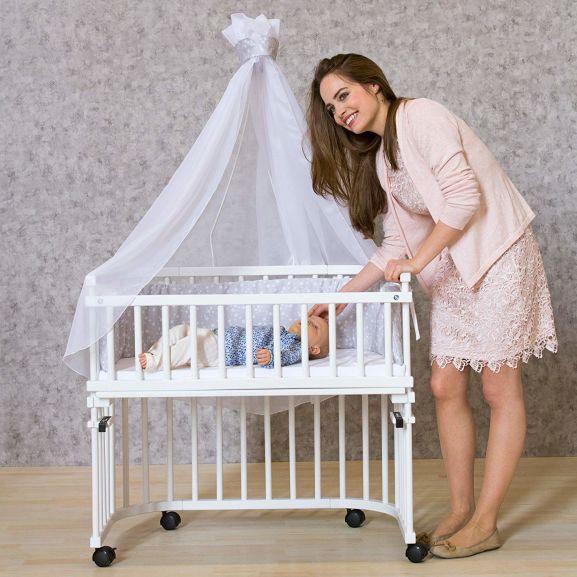 Babybay Rollensatz 4-Stk. für alle Modelle (Original, Midi, Comfort usw) (Prime) - aus dem Beistellbett einfach einen Stubenwagen machen