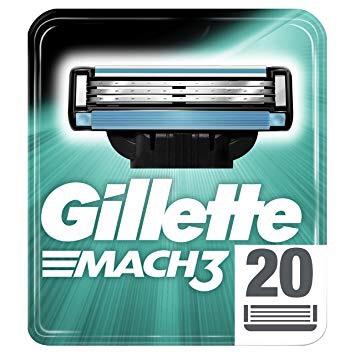 Gillette Mach3 Rasierklingen 20 Stück [Rossmann]